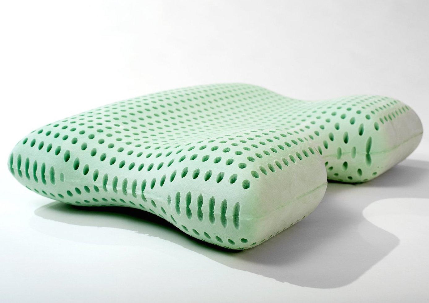 sleepjoy green tea contour pillow